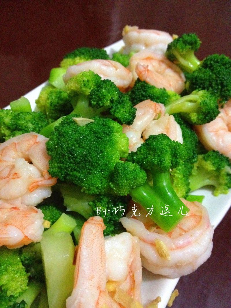 西兰花炒虾仁