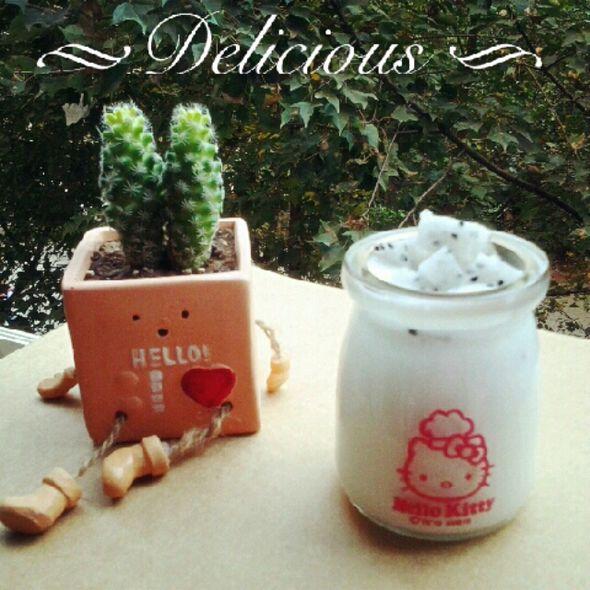 火龙果酸奶杯_张队长的豌豆黄的美食日记