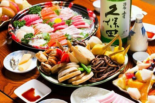 日本海鲜料理图片素材白色背景