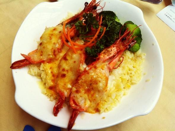 大虾焗饭图片