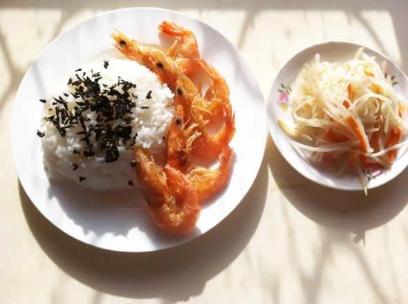 炸虾饭 土豆丝_d-wany的美食日记_豆果美食
