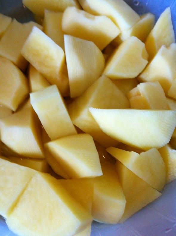 土豆切块_超耐力的美食日记