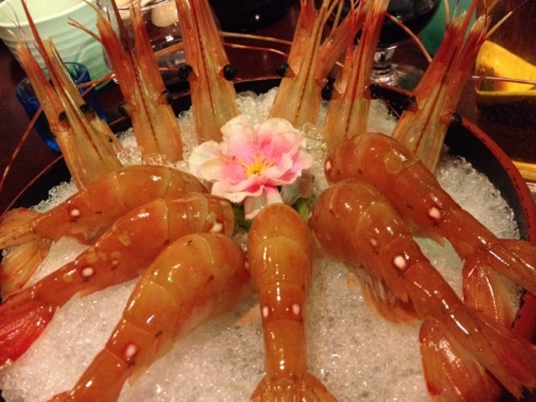 蝴蝶虾刺生