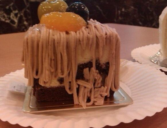 栗子蛋糕_薛旭初的美食日记