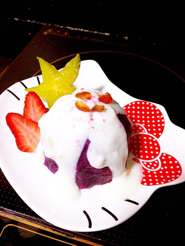 【紫薯酸奶冰淇淋】酸酸甜甜透心凉_林大头er的美食