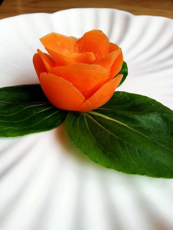 胡萝卜雕花处女作