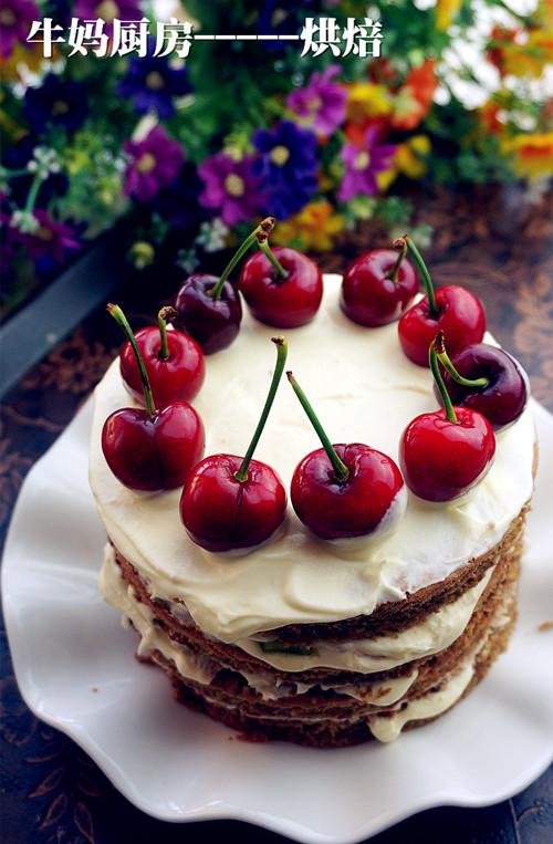 欧美风樱桃蛋糕