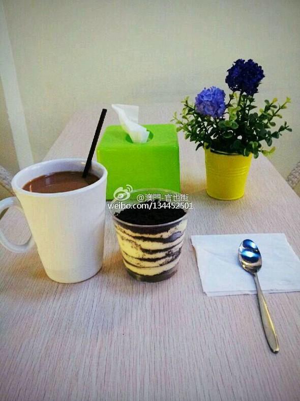 日记 美食 热咖啡 木糠/热咖啡配木糠