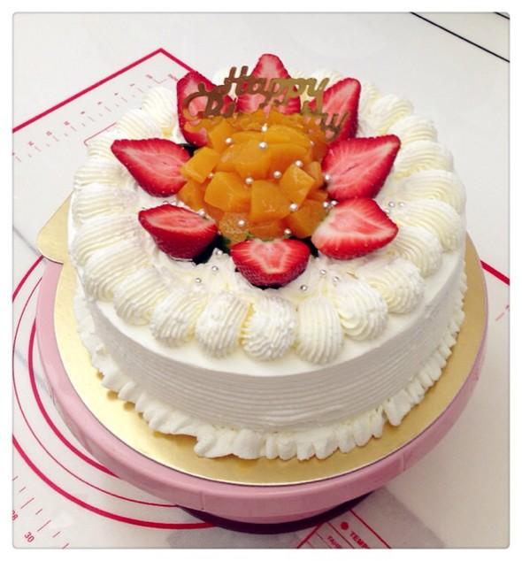 送给侄女的生日蛋糕,动物奶油裱花健康又美味!