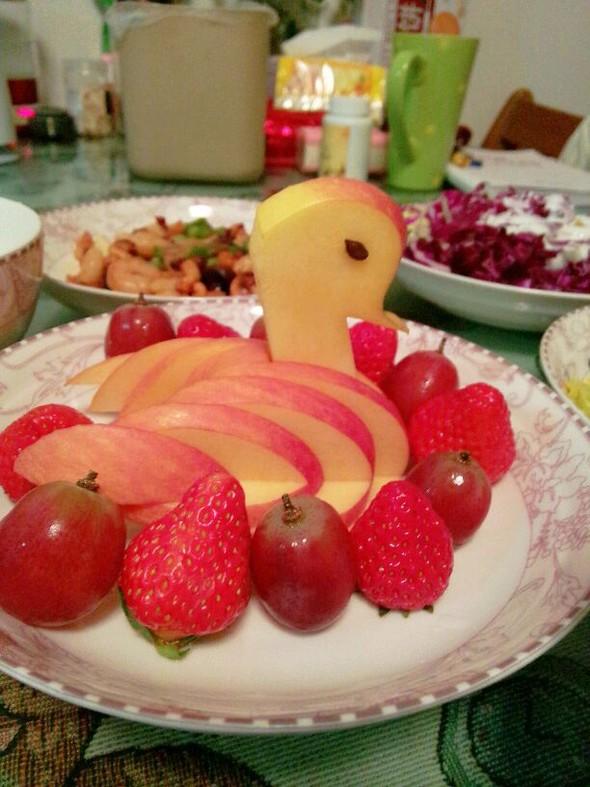 苹果天鹅果盘,苹果天鹅果盘
