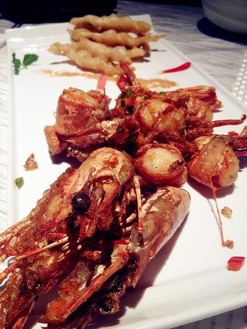 深海大对虾(椒盐,煎烹,油焖)