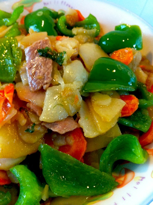 青椒土豆片_超耐力的美食日记