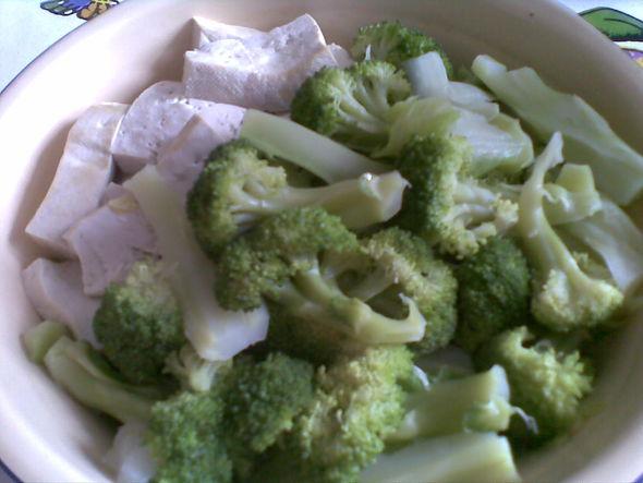 水煮菜(白菜,豆腐,西兰花)