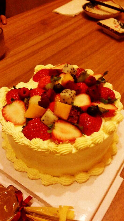 手工水果蛋糕2013年12月13日