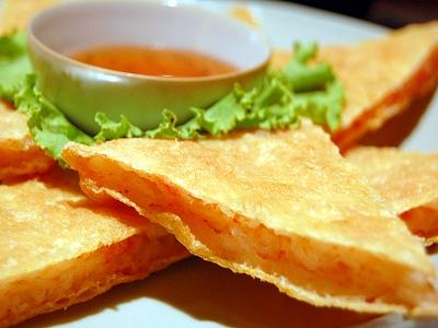 湾美食月亮虾饼