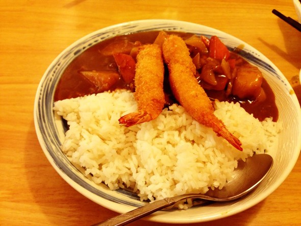 大虾咖喱饭图片