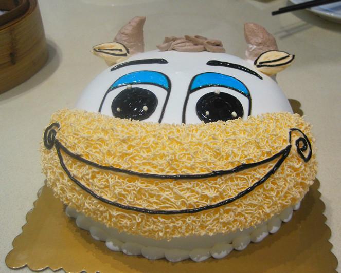 生日蛋糕卡通蛋糕小牛蛋糕甜点