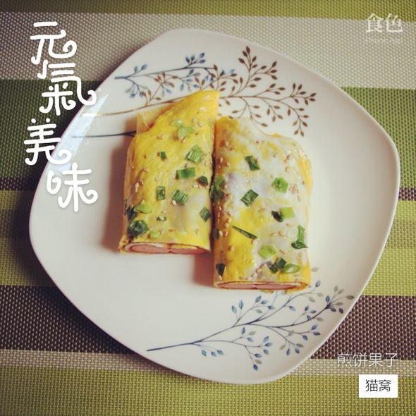 煎饼果子,煎饼果子_猫小纱的美食日记