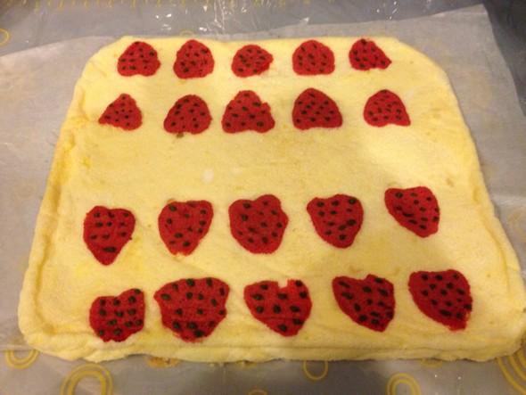 彩绘蛋糕卷 自家做的 接到任务