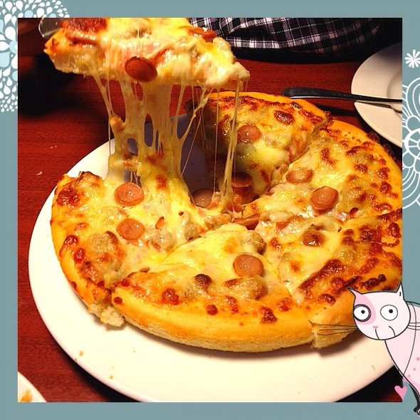 披萨盘子简笔画