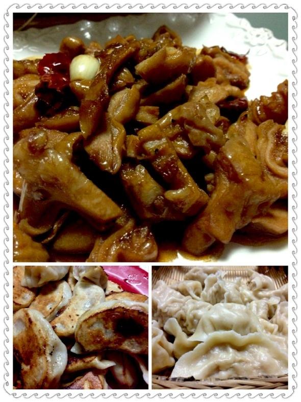 红烧肠肚,白菜胡萝卜,猪肉黄米羊肉饺子模特可图片