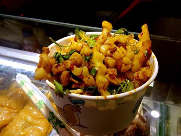土豆雕花艺术品